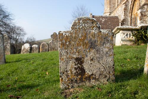 Ann Barge headstone, Litton Cheney