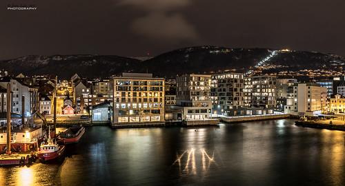 Bergen city nightscape {Explore 26/Nov 2018}