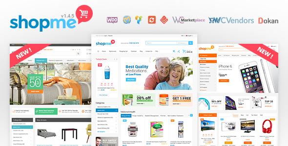 ShopMe v1.4.8 - Woocommerce WordPress Theme