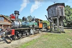 USA, la Californie, la gare de départ des trains à Roaring Camp Railroads