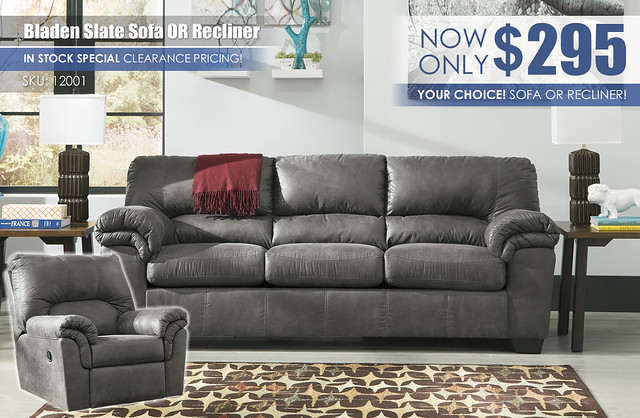 Bladen Slate Sofa or Recliner Special_12001