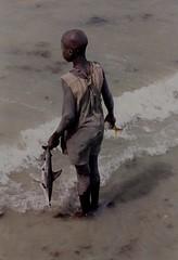 boy with hammerhead Gambia 2016