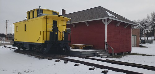 Iola Station and caboose 1