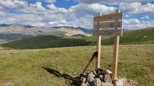 colorado chfstew coloradotrail segment8 hiking landscape cosummitcounty trailsign