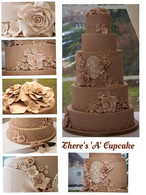 Wedding Cake by There's 'A' Cupcake