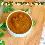 Methi leaves tomato chutney=