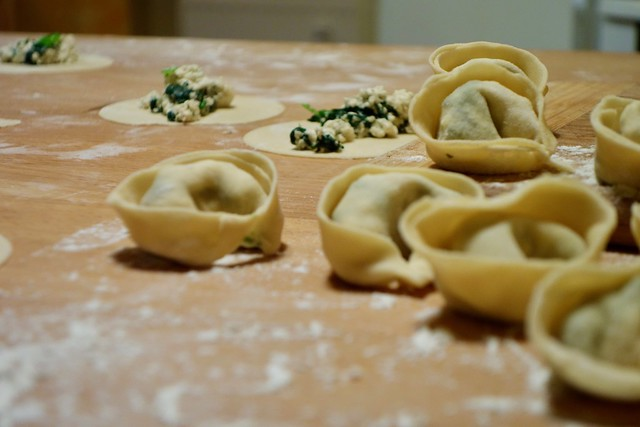 Tortellini mit Spinat und Ricotta Füllung