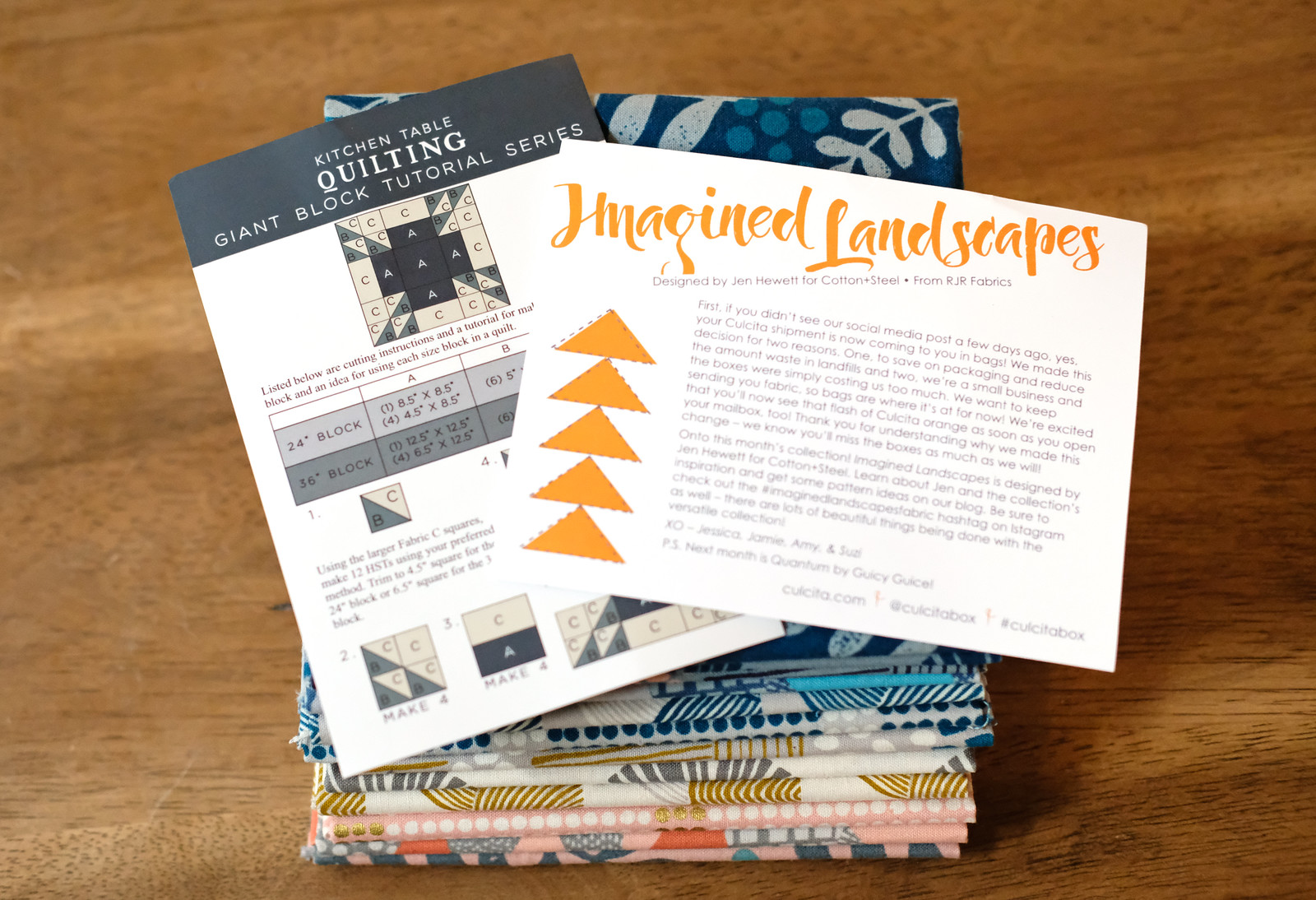 November Culcita Box Unboxing - Kitchen Table Quilting