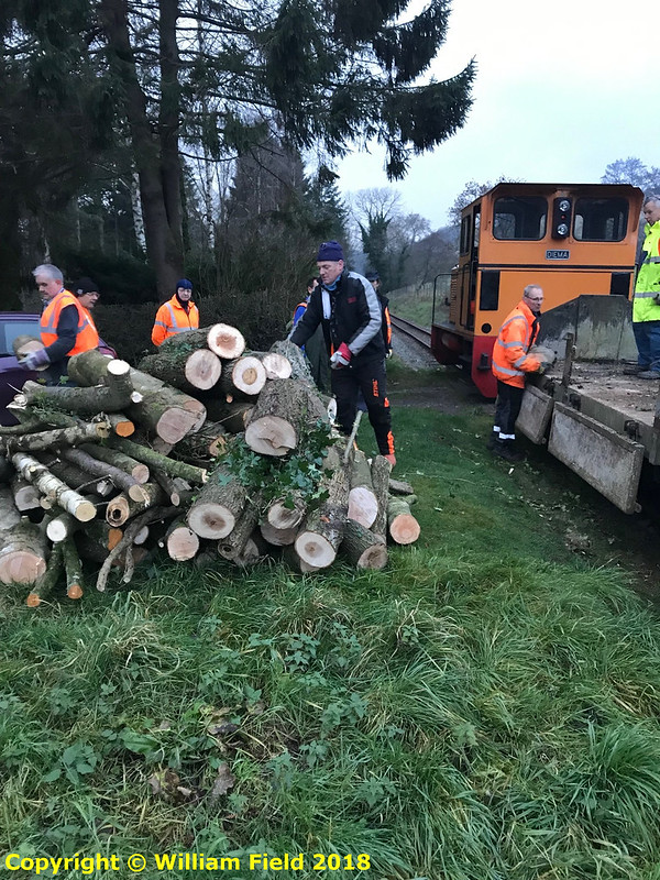 Delivery of logs to Heniarth Mill