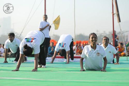 Devotees of Yoga seeking blessings