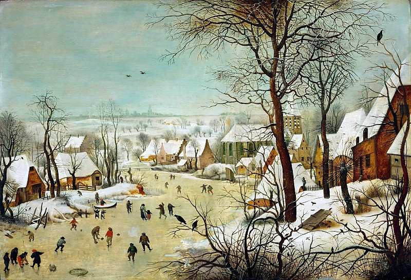 Зимний пейзаж с ловушкой для птиц, 1565