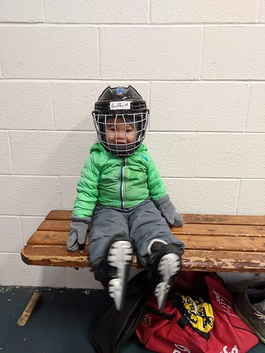 Look at that smile! My grandson is all ready to learn to skate!
