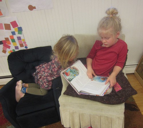 these girls LOVE to read!