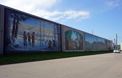 Floodwall Murals, Portsmouth, OH