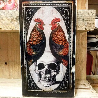 #cocks and #skull #henribanks #rooster