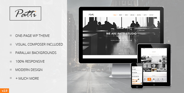 Patti v2.9.8 – Parallax One Page WordPress Theme