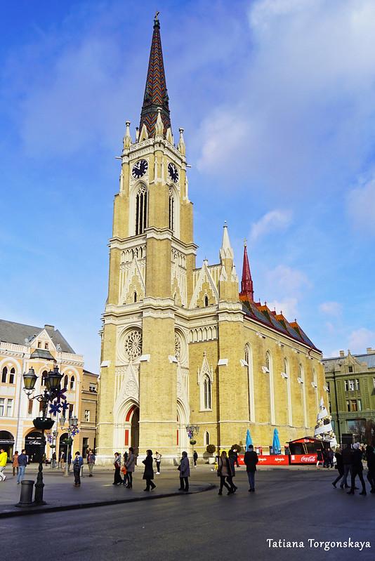 Церковь Девы Марии, вид с площади Свободы