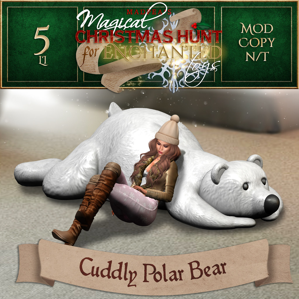 Cuddly Polar Bear MadPea Christmas Hunt Premium Prize!