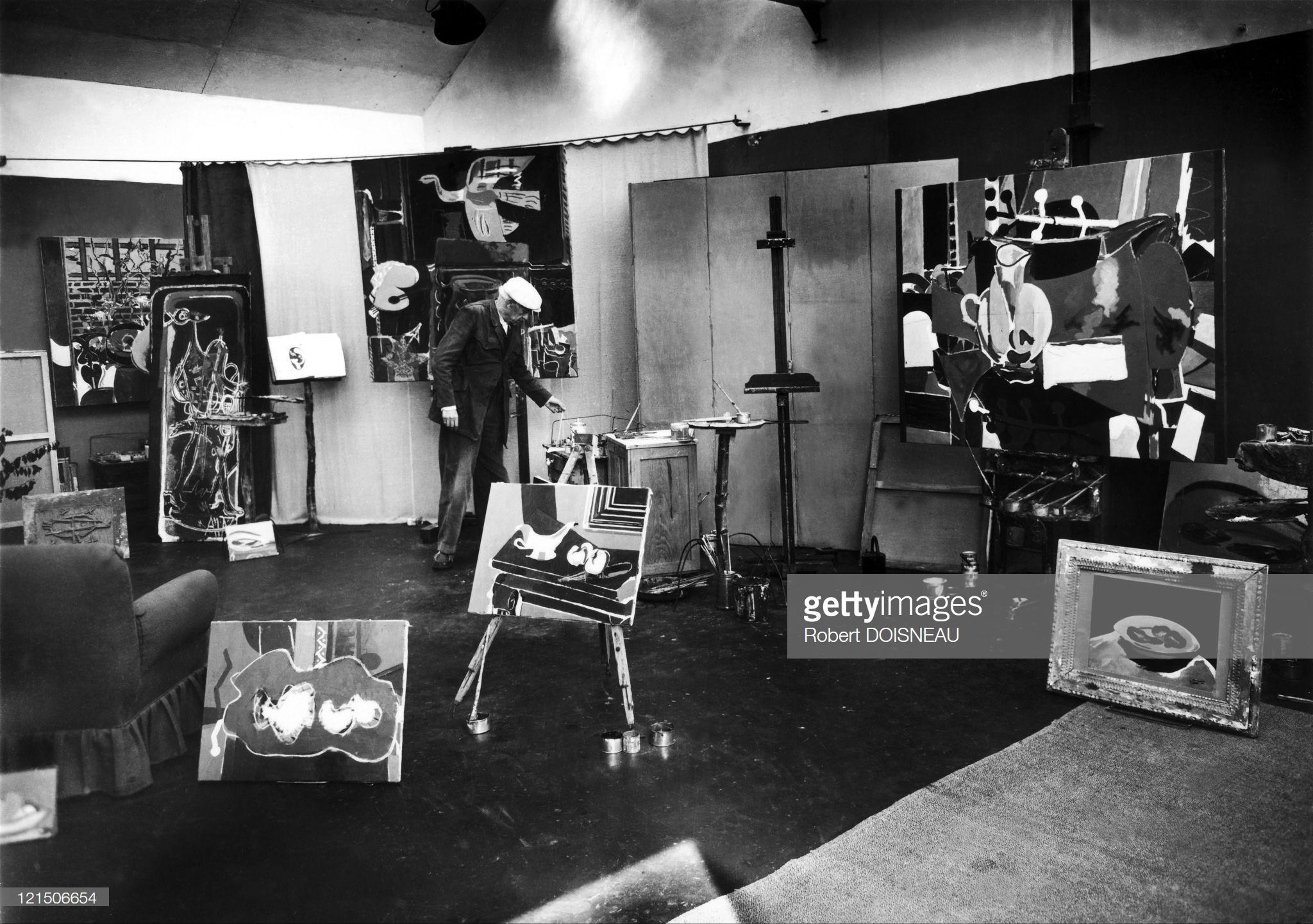 1953. Дома у Жоржа Брака в Варенгевиле