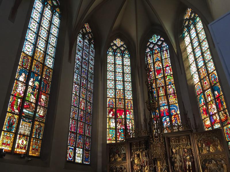 St Sebastian glass