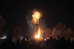 Lustenau Austria - Record-breaking Bonfire