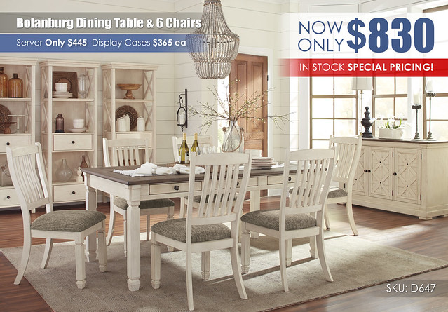 Bolanburg Dining Table & 6 Chairs_InStock_Clearance_D647-25-01(6)-60-76-R40021