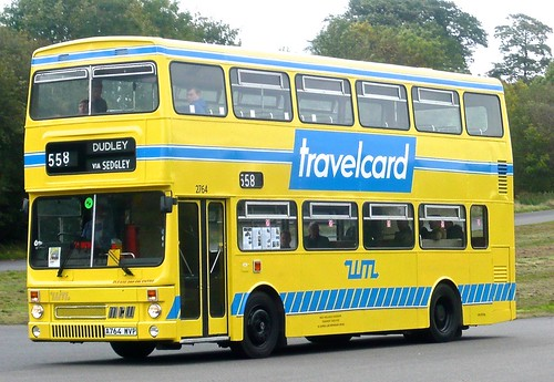 A764 WVP 'West Midlands PTE' No. 2957 'travelcard'. MCW Metrobus Mk. 2 on Dennis Basford's railsroadsrunways.blogspot.co.uk'