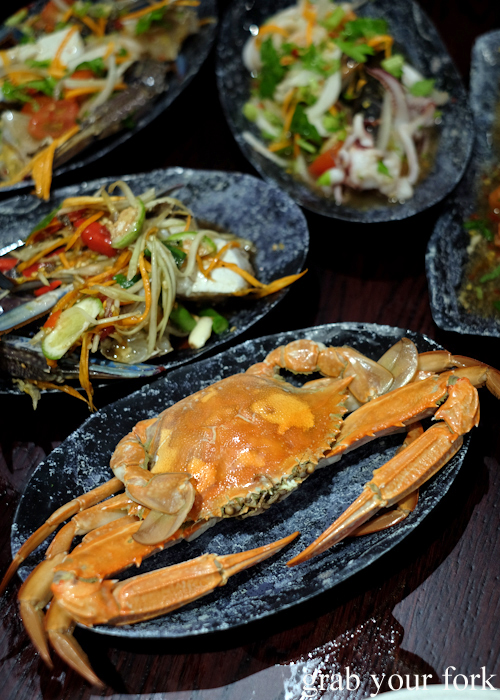 Thai style steamed blue swimmer crab at Talay's Thai all you can eat seafood buffet at Duo Central Park in Chippendale