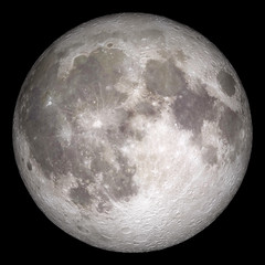 Full moon. Original from NASA. Digitally enhanced by rawpixel.