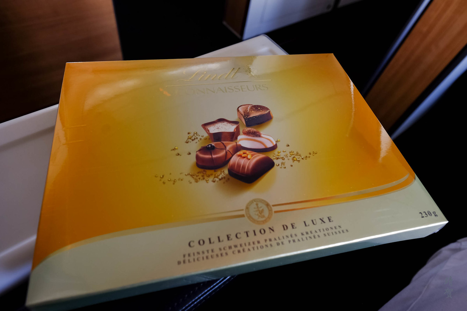 Lindt chocolates from the crew