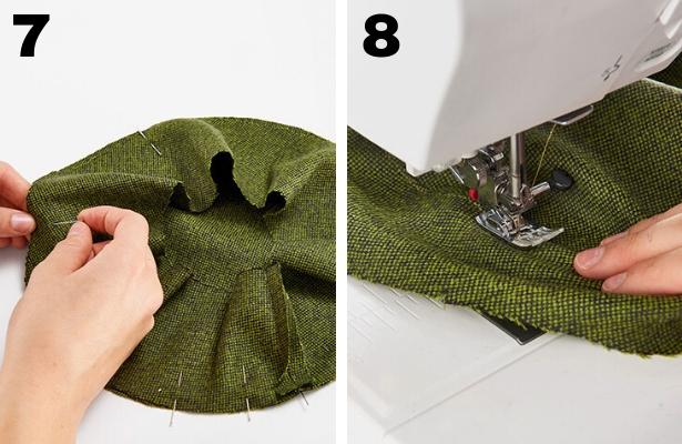DIY Captains Hat Steps 7 8