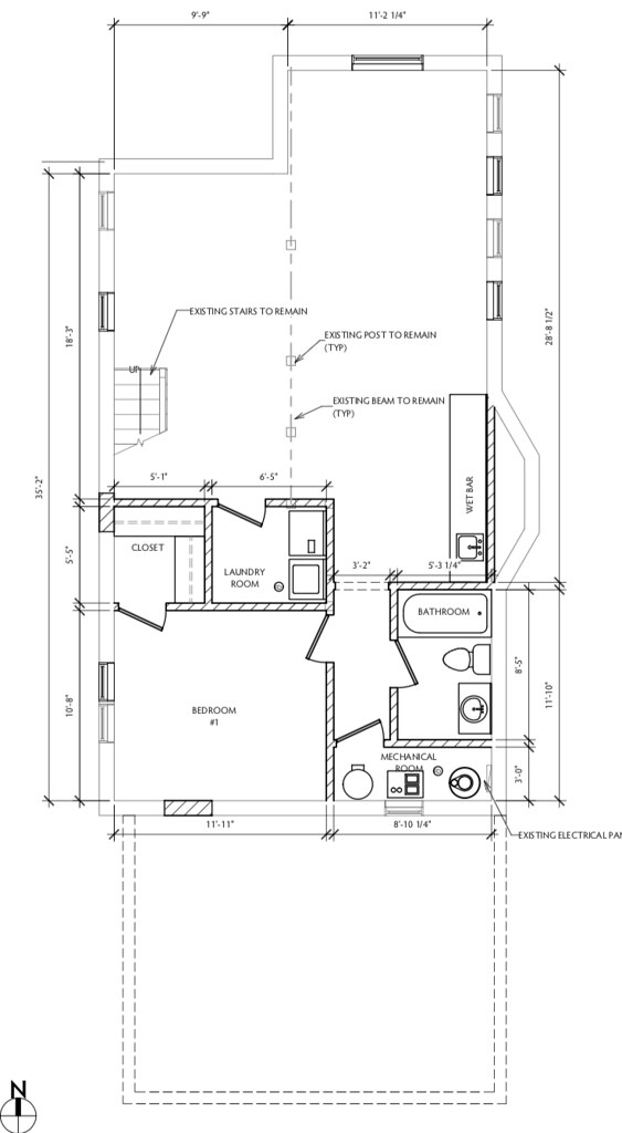 1531 W Grangille Arch Drawings - Basement
