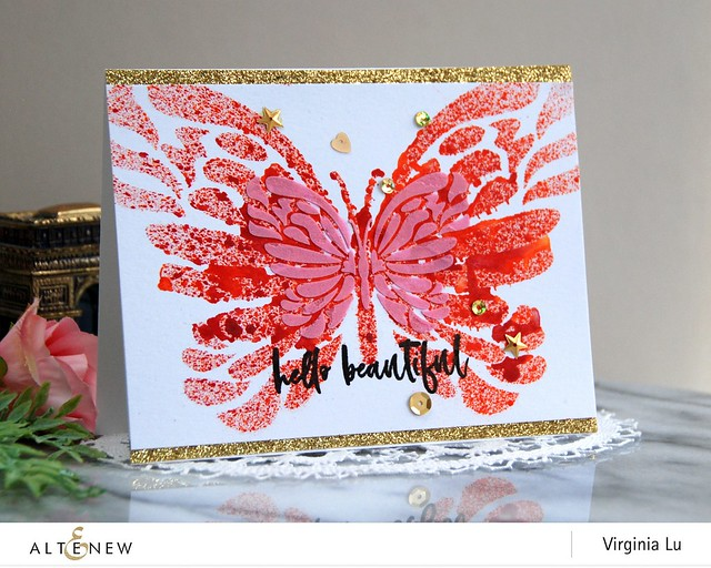 Altenew-FlowingButterflyStencil&InkBundle-Virginia#1