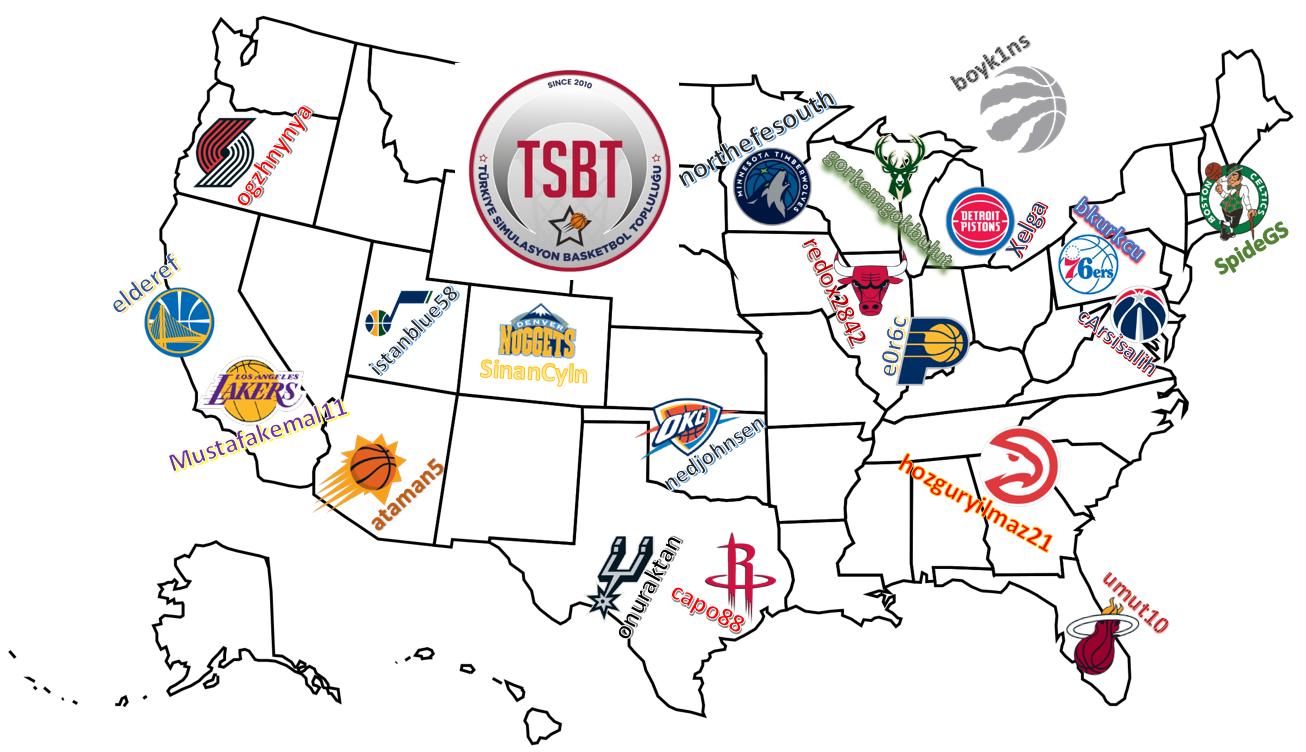 TSBT 36. Sezon Takım Seçimleri Haritası