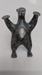 David Ruben Piqtoukun. Spirit bear possessing a man's soul, 1982. Art Gallery of Ontario