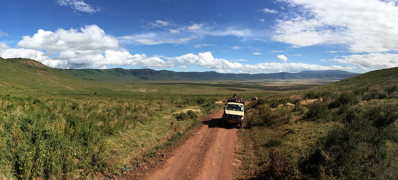 Departing Ngorongoro crater