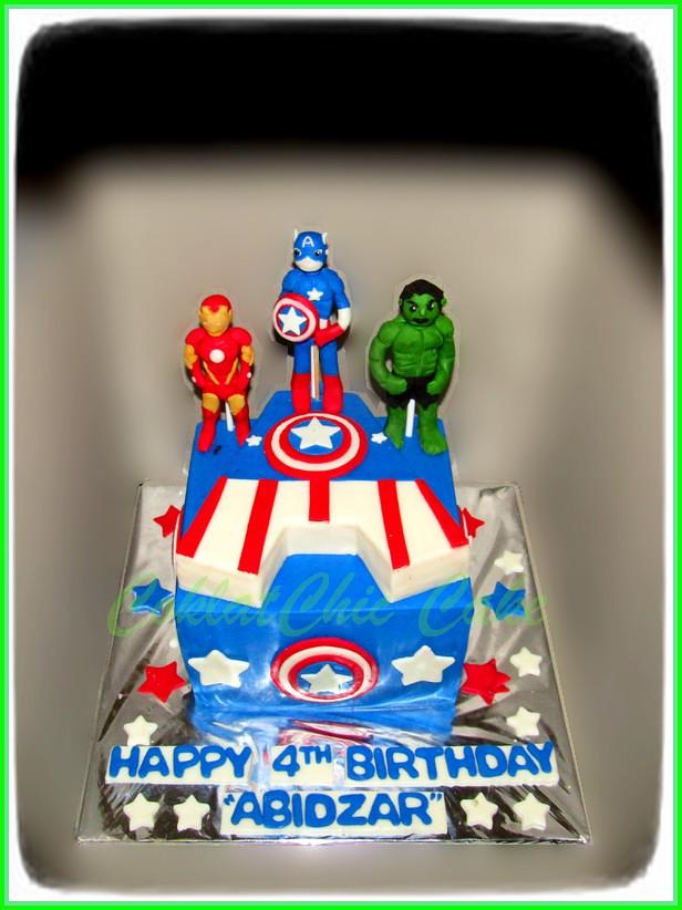 Cake Captain America ABIDZAR  18 cm