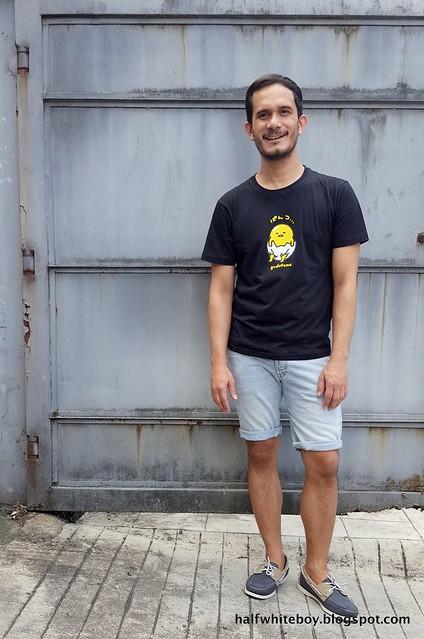 halfwhiteboy - gudetama t-shirt and shorts 03