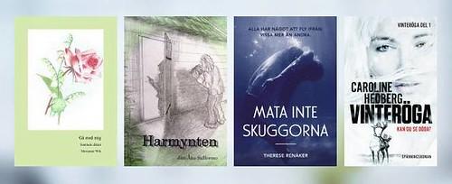 Marianne Wik – Gå med mig (dikter) Jan-Åke Sallermo – Harmynten (kriminalroman) Caroline Hedberg – Vinteröga (spänningsroman) Therese Renåker – Mata inte skuggorna (roman)