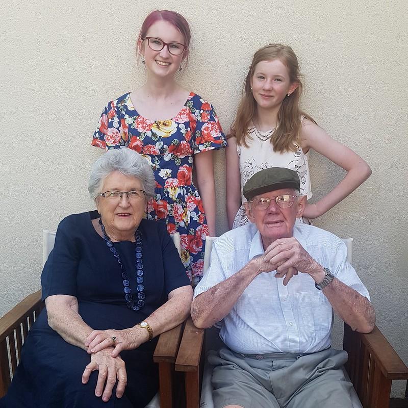 Flat cap - grandparents and granddaughters