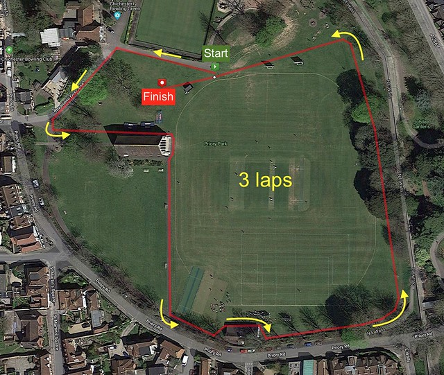 New parkrun map for news page