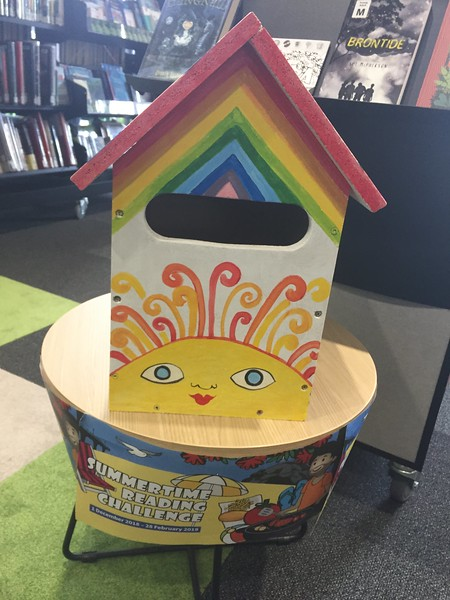 Summertime Reading Challenge postbox