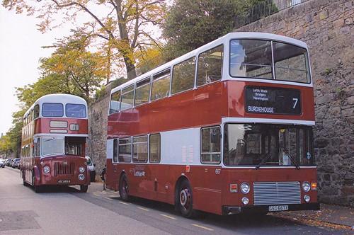 GSC 667X 'Lothian Buses' No. 667. Leyland Olympian ONTL11/1R / Alexander RL on Dennis Basford's railsroadsrunways.blogspot.co.uk'