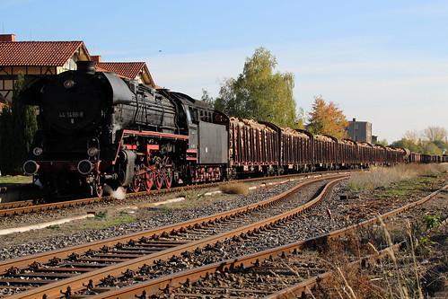 2018-10-20; 0151. ZL ETB 44 1486-8  en SL IGE Werrabahn 52 1360-8 met GZ 404. Immelborn. Plandampf im Werratal, Dampffinale.