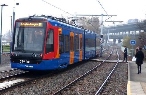Class 399 'Stagecoach SUPERTRAM' No. 201. Vossloh CityLink (Tram Train) on Dennis Basford's railsroadsrunways.blogspot.co.uk'