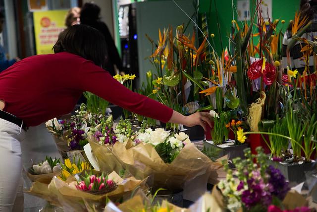 Vente de fleurs, 1er février 2019, rectorat