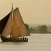 Zeilboot in het late zonnetje