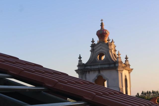 Obra do telhado no Seminário