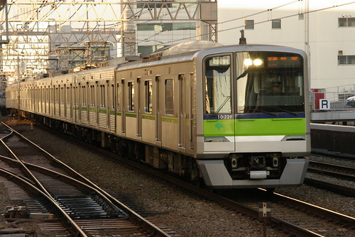 Toei 10-300R series in Sasazuka.Sta, Shibuya, Tokyo, Japan /Dec 29, 2008