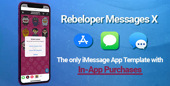 Rebeloper Messages v12 - iMessage App in Swift 4.2, iOS 12 and Xcode 10 ready
